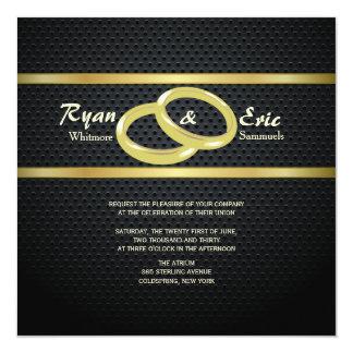 Bandas do convite do casamento do ouro