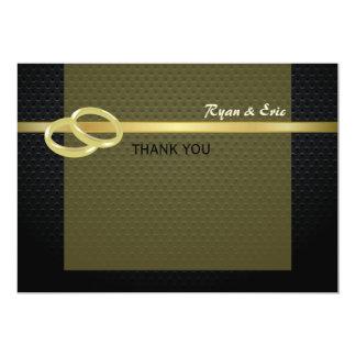 Bandas do obrigado do ouro você convite 12.7 x 17.78cm