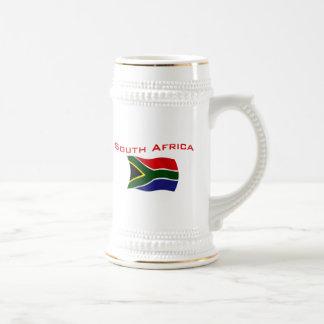 Bandeira 2 de África do Sul Caneca De Cerveja