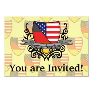 Bandeira Alemão-Americana do protetor Convite 12.7 X 17.78cm