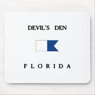Bandeira alfa do mergulho de Florida do antro do d