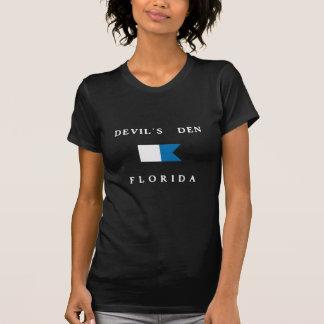 Bandeira alfa do mergulho de Florida do antro dos Camiseta