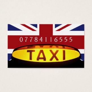 Bandeira amarela de Ingleses do sinal do táxi de Cartão De Visitas
