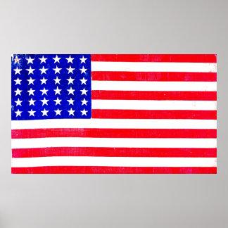 Bandeira americana 1865 de guerra civil poster