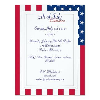 Bandeira americana - 4o de convites de festas de