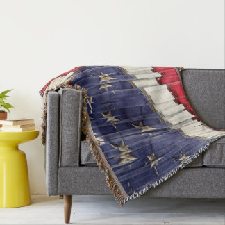 Bandeira americana abstrata lençol