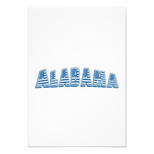 Bandeira americana azul Alabama Convites Personalizado