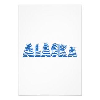 Bandeira americana azul Alaska Convites Personalizados