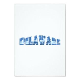 Bandeira americana azul Delaware Convite 8.89 X 12.7cm