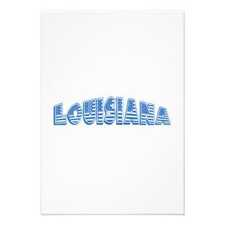 Bandeira americana azul Louisiana Convites Personalizados