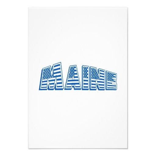 Bandeira americana azul Maine Convites