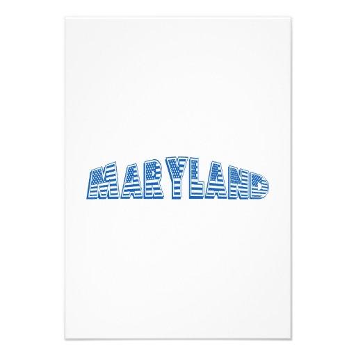 Bandeira americana azul Maryland Convite