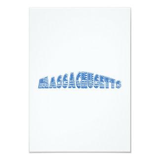 Bandeira americana azul Massachusetts Convite 8.89 X 12.7cm