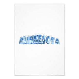 Bandeira americana azul Minnesota Convites Personalizados