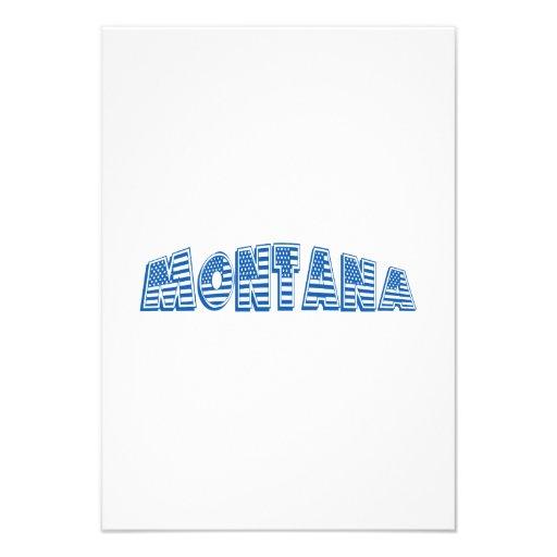 Bandeira americana azul Montana Convites Personalizados