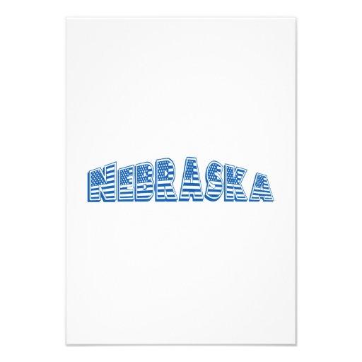 Bandeira americana azul Nebraska Convites Personalizado