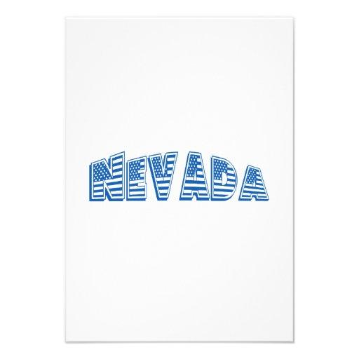Bandeira americana azul Nevada Convites