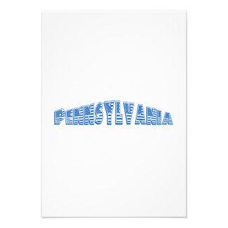Bandeira americana azul Pensilvânia Convite Personalizado