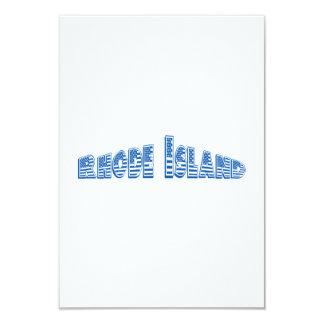 Bandeira americana azul Rhode - ilha Convite Personalizados