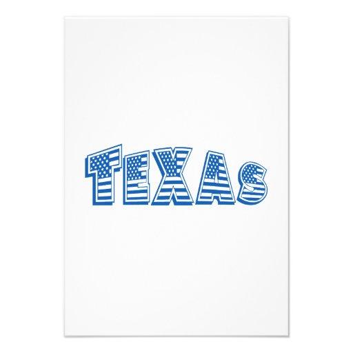 Bandeira americana azul Texas Convites