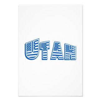 Bandeira americana azul Utá Convites Personalizados