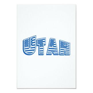 Bandeira americana azul Utá Convite 8.89 X 12.7cm