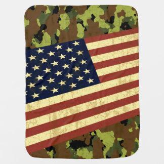 Bandeira americana Camo Mantas Para Bebe