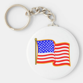 Bandeira americana chaveiro