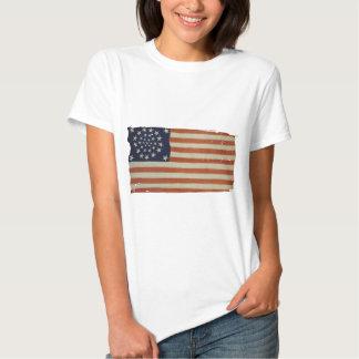 Bandeira americana com 34 estrelas tshirts