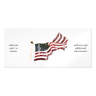 Bandeira americana com cruzes