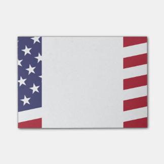 Bandeira americana - comemore os EUA - 4 de julho Bloco Post-it