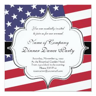Bandeira americana - comemore os EUA Convite Quadrado 13.35 X 13.35cm