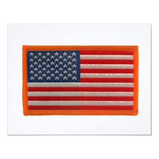 Bandeira americana convite 10.79 x 13.97cm