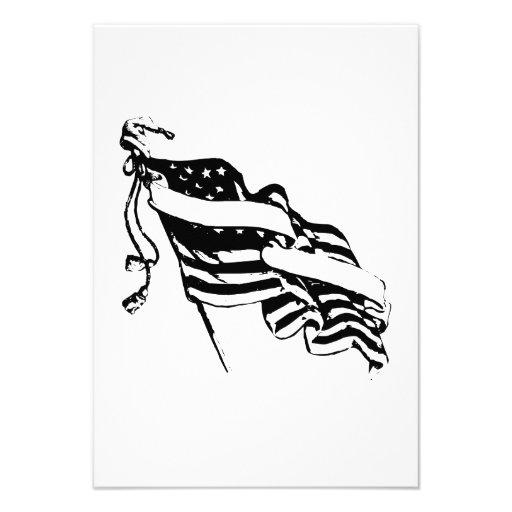 Bandeira americana convite