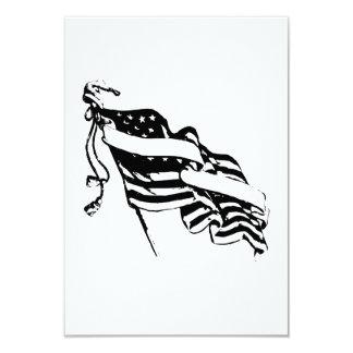 Bandeira americana convite 8.89 x 12.7cm