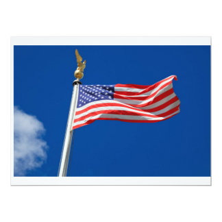Bandeira americana convite 16.51 x 22.22cm