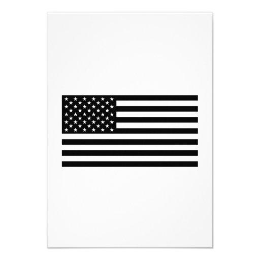 Bandeira americana convites personalizados