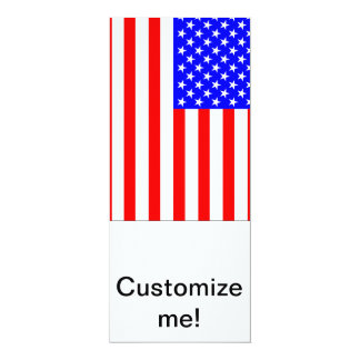 "Bandeira americana convite 10.16"" x 23.49cm"