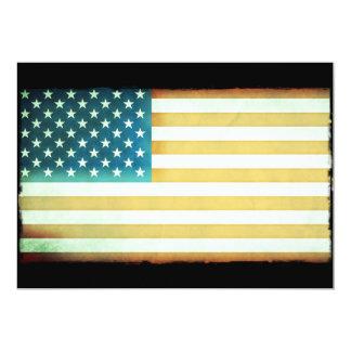 Bandeira americana convite 12.7 x 17.78cm