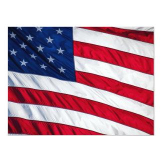 "Bandeira americana convite 16.51"" x 22.22cm"
