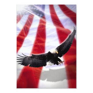 Bandeira americana & convite de Eagle