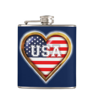 Bandeira americana Coração-Dada forma