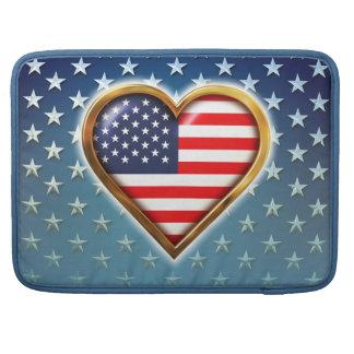 Bandeira americana Coração-Dada forma Bolsa Para MacBook