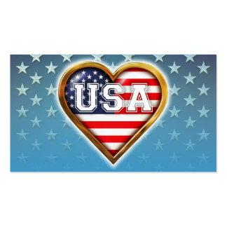 Bandeira americana Coração-Dada forma Cartão De Visita