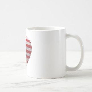 Bandeira americana - coração macio caneca