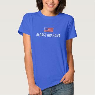 Bandeira americana da AVÓ de BADASS T-shirt