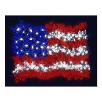 Bandeira americana da bandeira dos Estados Unidos Convite 10.79 X 13.97cm