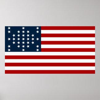 Bandeira americana da guerra civil de Sumter do fo Posters