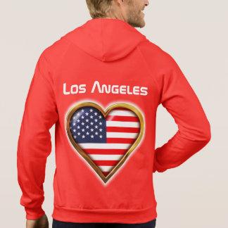 Bandeira americana dada forma coração moletom com capuz