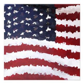 Bandeira americana de papel de Mache Convite